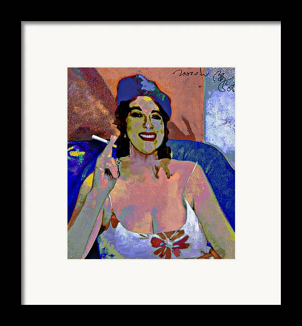 Portrait Framed Print featuring the painting Smile by Noredin Morgan