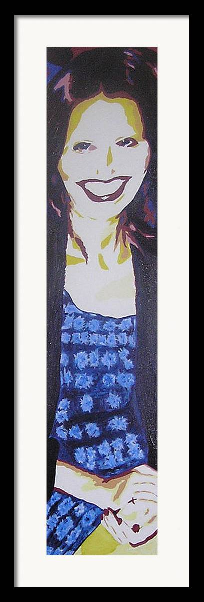 Portrait Framed Print featuring the painting Smile Of Beauty by Ricklene Wren