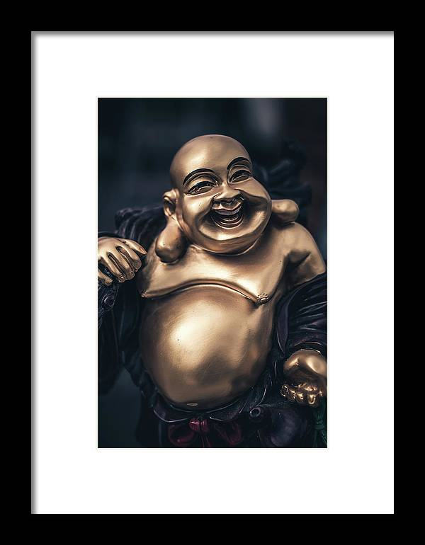 Australia Framed Print featuring the photograph Smiling Buddha by Paradigm Blue