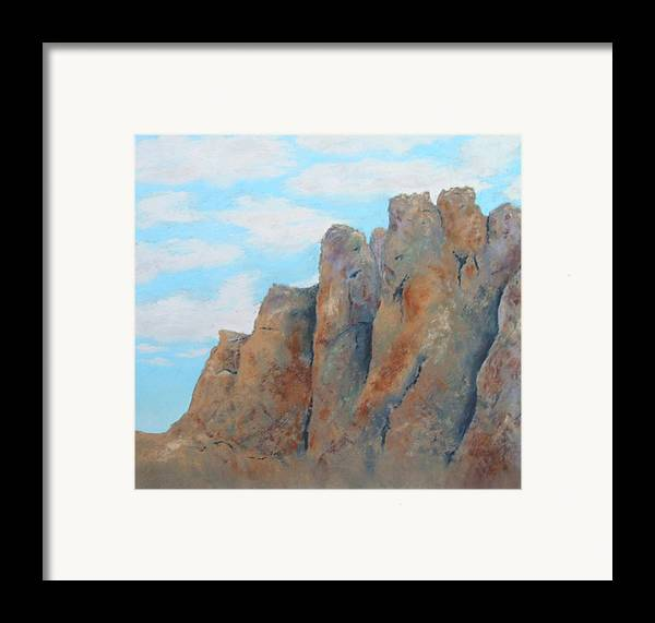 Landscape Framed Print featuring the painting Smith Rock by Carl Capps