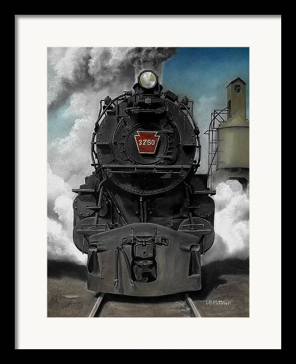 Trains Framed Print featuring the painting Smoke And Steam by David Mittner