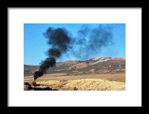Nn Framed Print featuring the photograph Smoke In The Sky. by Peter Crook