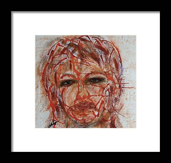 Eyes Framed Print featuring the painting Smokey Eyes by Cathy Minerva