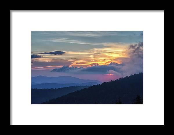 Centennial Framed Print featuring the photograph Smokies Centennial Sunset by Kristina Plaas