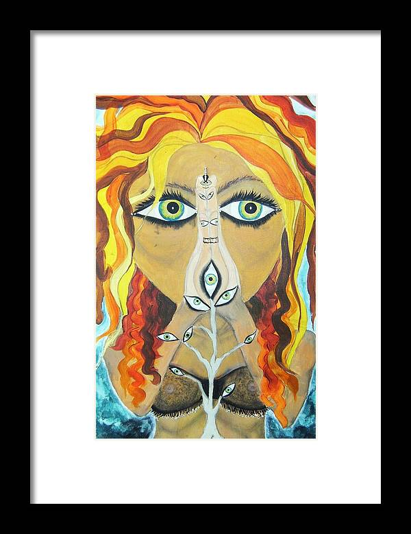 Bellydancers Framed Print featuring the painting Smokin Bellydancer by Meshal Hardie