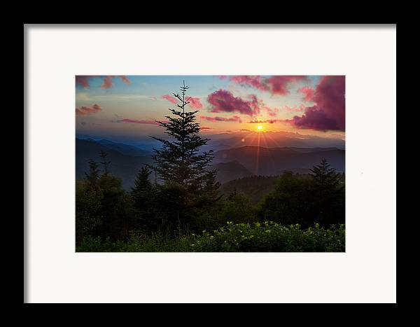 Great Smoky Mountains Framed Print featuring the photograph Smoky Mountain Sunset by Christopher Mobley