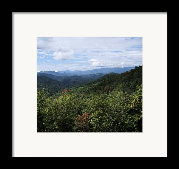 Landscape Framed Print featuring the photograph Smoky Mountain View by Jessica Breen