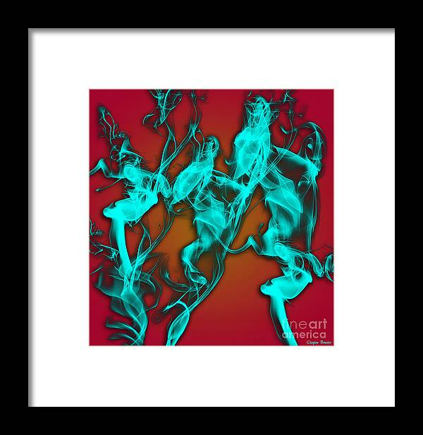 Clay Framed Print featuring the digital art Smoky Shadows by Clayton Bruster