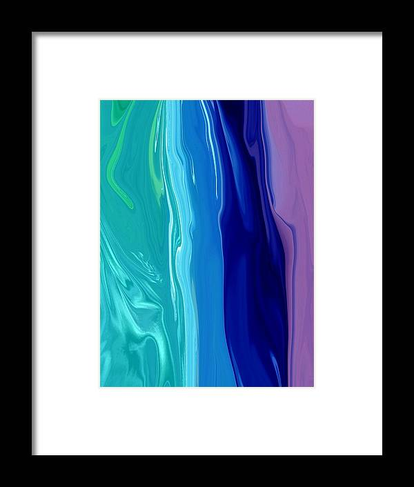 Abstract Framed Print featuring the digital art Smooth Moves by Florene Welebny