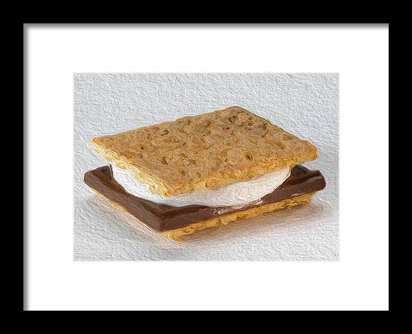 #nationalsmoresday Framed Print featuring the photograph S'mores by Modern Art