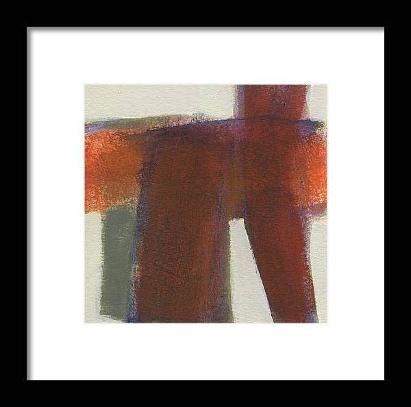 Abstract Framed Print featuring the painting Smudge 3 by Jean Beal