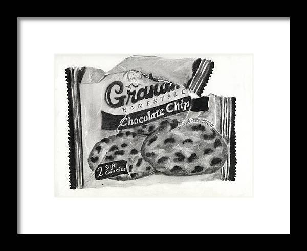 Cookies Framed Print featuring the drawing Snack Time by Penny Everhart