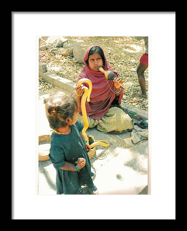India Framed Print featuring the photograph Snake And The Flute by Robert Collier