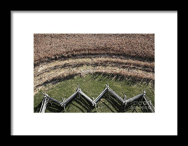 Antietam Framed Print featuring the photograph Snake-rail Fence And Cornfield by William Kuta