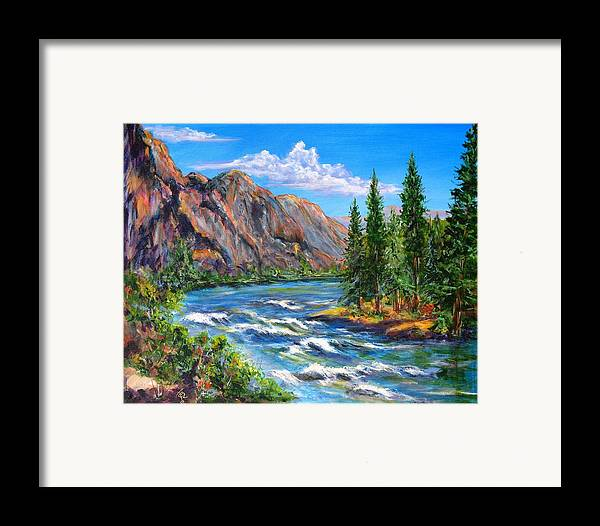 Landscape Framed Print featuring the painting Snake River by Thomas Restifo