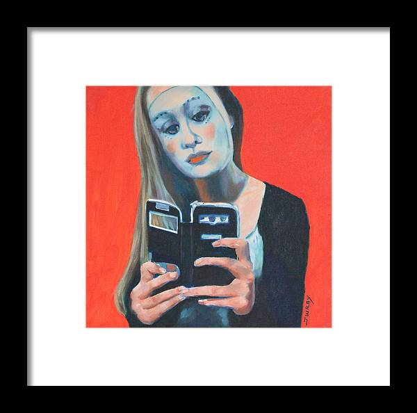 Snapchat Framed Print featuring the painting Snapchat by Johanna Wray