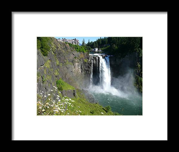 Waterfll Framed Print featuring the photograph Snoqualmie Falls by Wendi Curtis