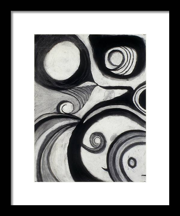 Charcoal Drawing Framed Print featuring the drawing Snorffs And Dweezelbobbins by Jamie Wooten
