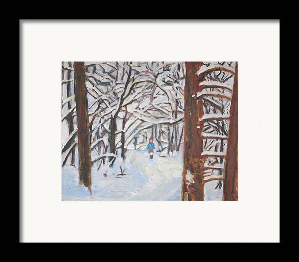 Snow Framed Print featuring the painting Snow by Alicia Kroll