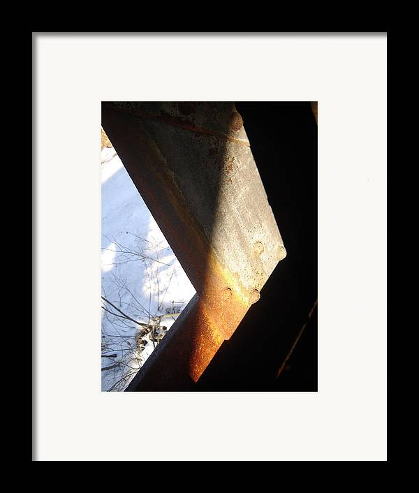 Architectural Framed Print featuring the photograph Snow Angle by Dean Corbin