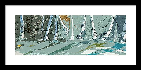 Snow Framed Print featuring the painting Snow Bank by Mindy Newman