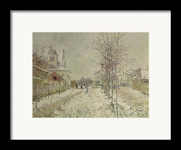 Snow Effect Framed Print featuring the painting Snow Effect by Claude Monet