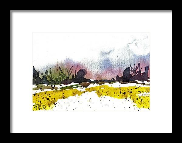 Snow Framed Print featuring the painting Snow Field by Tonya Doughty