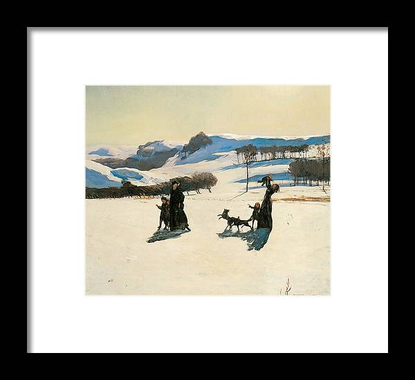 Rockwell Kent Framed Print featuring the painting Snow Fields by Rockwell Kent