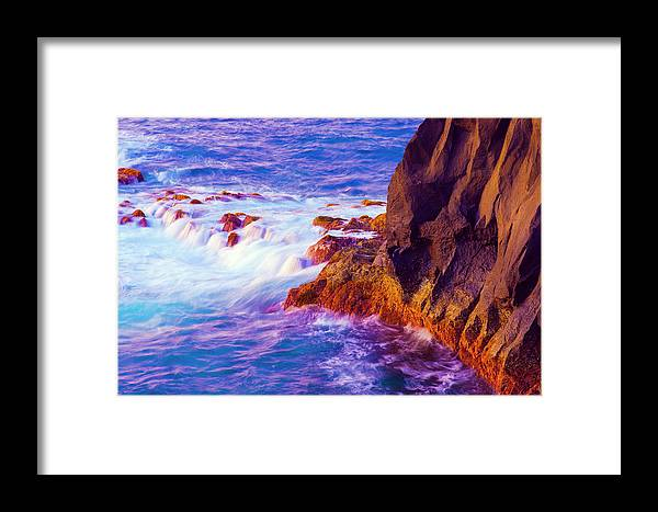 Azores Framed Print featuring the photograph Snow Foam At Ferraria Nose by Jean-luc Bohin