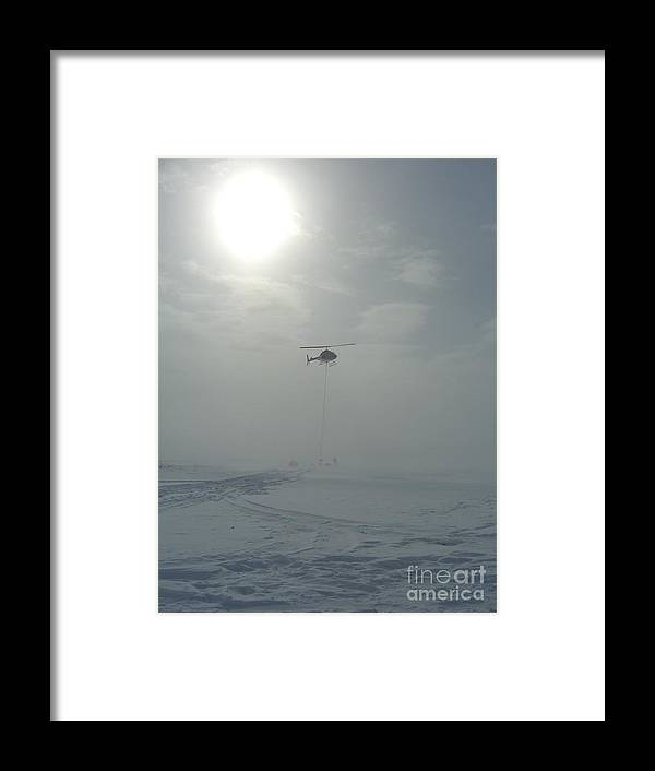 Helicopter Framed Print featuring the photograph Snow Heli -25deg by Jim Thomson