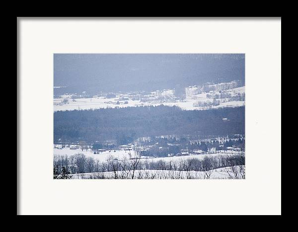 Valley Framed Print featuring the photograph Snow In The Valley by Richard Botts