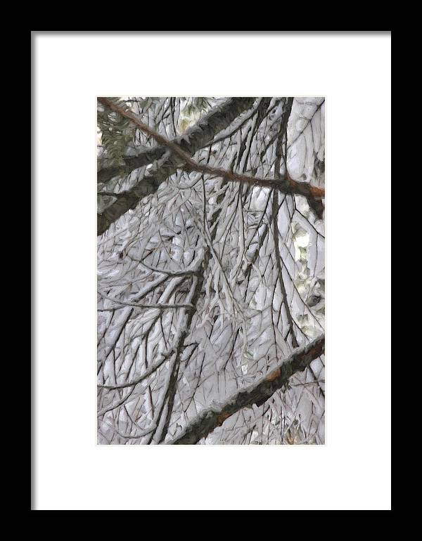 Nature Framed Print featuring the photograph Snow In Yosemite by Karen Jensen