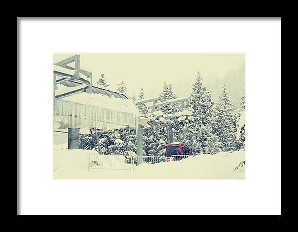 Snow Framed Print featuring the photograph Snow Lift by Kerry Langel
