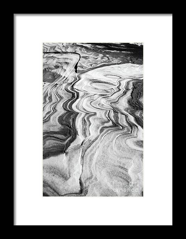 Lake Michigan Framed Print featuring the photograph Snow Shapes Viii by Charles Norkoli