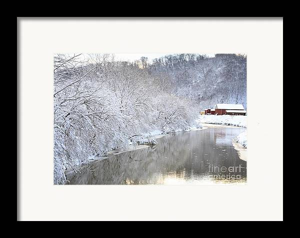 Snow Framed Print featuring the photograph Snow Storm by Joan Powell