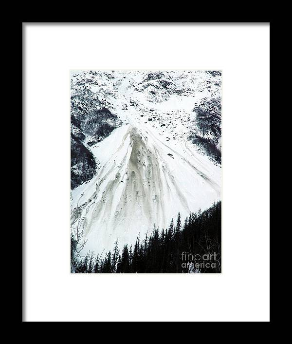 Landscape Framed Print featuring the photograph Snow Then Land Slide by Ron Bissett