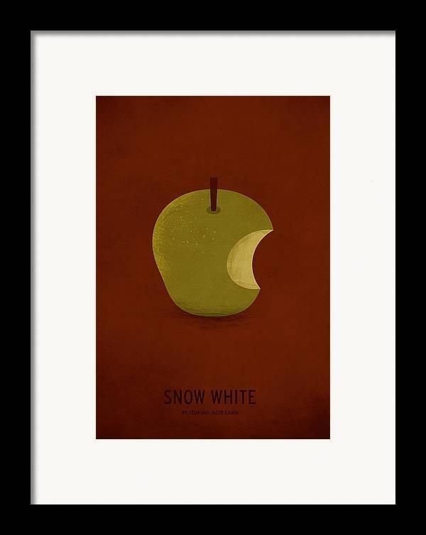 Stories Digital Art Framed Print featuring the digital art Snow White by Christian Jackson