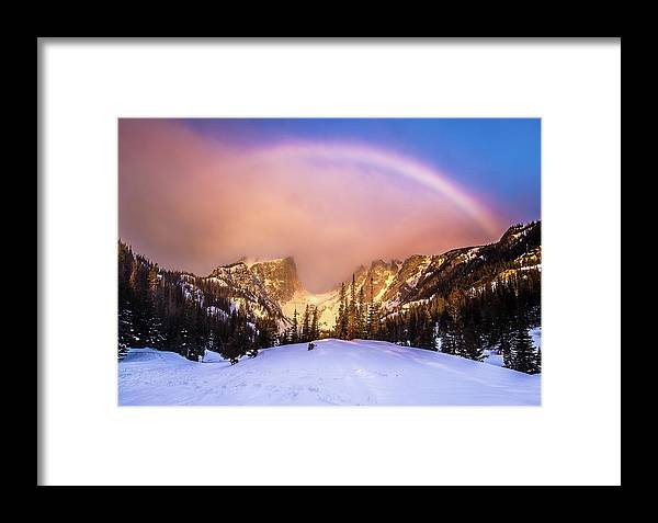 Dream Lake Framed Print featuring the photograph Snowbow by Donald Poole