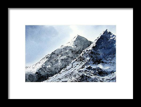 Snowdon Framed Print featuring the painting Snowdon by Paul Dene Marlor