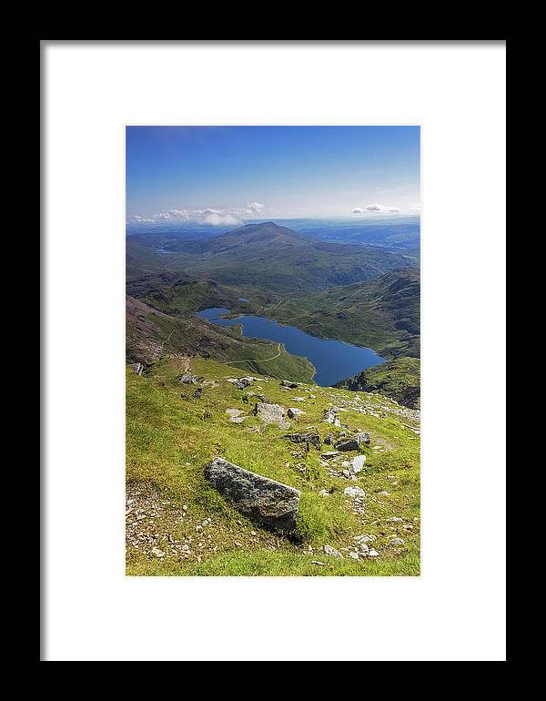 Snowdonia Framed Print featuring the photograph Snowdon View by Mitchell AK