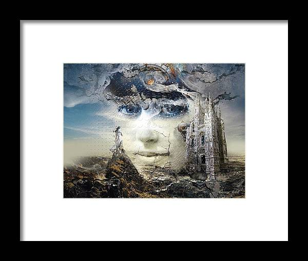 Snowfall Framed Print featuring the digital art Snowfall in Parallel Universe or the One That Got Away by George Grie