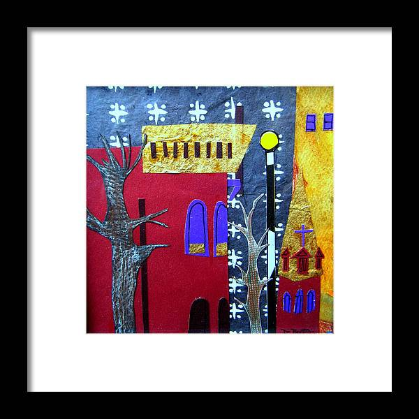 City Framed Print featuring the mixed media Snowstorm Backbay by Debra Bretton Robinson