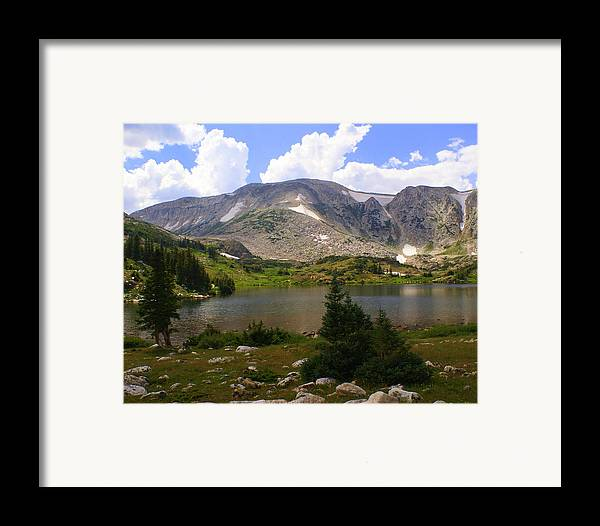 Mountain Framed Print featuring the photograph Snowy Mountain Loop 9 by Marty Koch