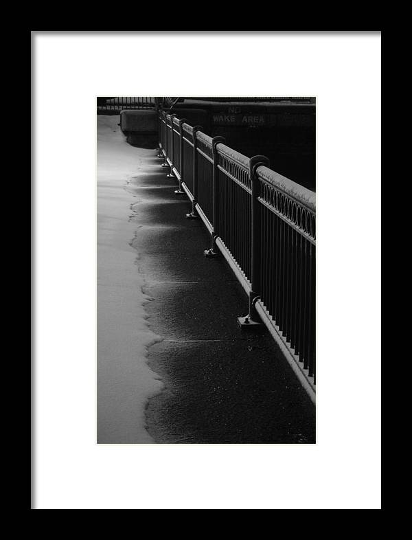 Winter Framed Print featuring the photograph Snowy Rail by Eric Workman