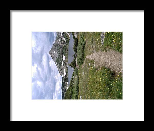 Snow'y Range In July #1 Wyoming Framed Print featuring the photograph Snow'y Range by Alice Eckmann