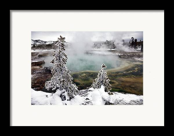 Horizontal Framed Print featuring the photograph Snowy Yellowstone by Jason Maehl