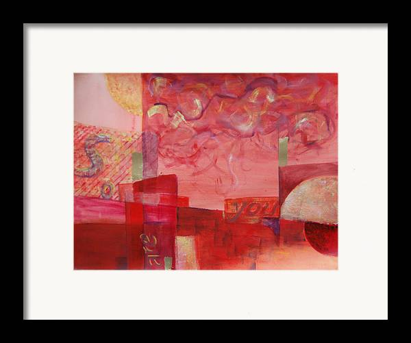 Abstract Framed Print featuring the painting So Are You by Kevin Stevens