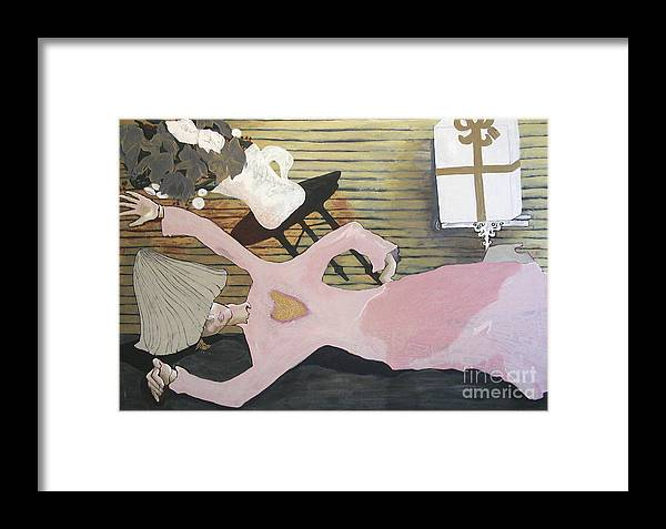 Girl Framed Print featuring the painting So Close by Sarah Goodbread
