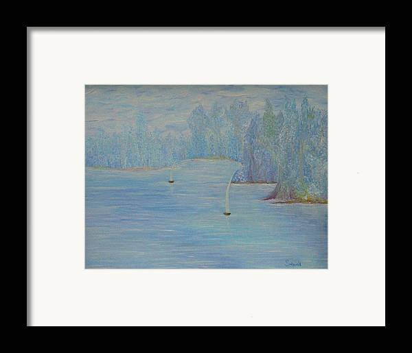 Blue Framed Print featuring the painting So Cool by Cary Singewald