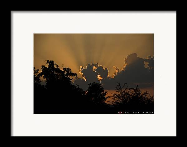 Sun Framed Print featuring the photograph So Far Away by Jonathan Ellis Keys